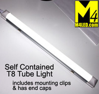 "T8-STANDALONE-NW Natural White Self Contained 18"" T8 LED Tube Light 12v 4500k"
