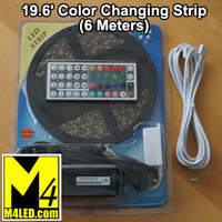 RGB-STRIP-RF 6 Meter (19.5') Color Changing Strip Light with Controller and 120v Transformer