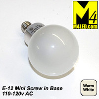 Home or RV LV-CL-3WA2-WW 120v Warm White Screw in Vanity Globe with Mini E12 Base