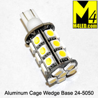 921-24-5050-WW Warm White 5050 SMD Light Bulb with Wedge Base