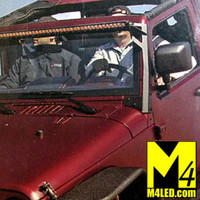 "Jeep Wrangler JK Upper Windshield Light Mounts - 52"""