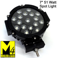 "15% Off SAN6511-BLACK 51 Watt 7"" Spot Light with Black Trim"