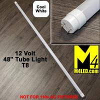 """T8-48TUBE-CW Cool White 48"""" 12 VOLT T8 LED Tube Light 6000k"""