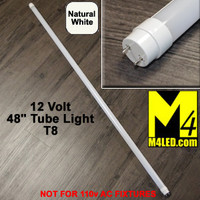 "T8-48TUBE-NW Natural White 48"" 12 VOLT T8 LED Tube Light 4500k"