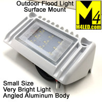 "Angled Aluminum Body Flush Mount Flood Light 5"" White"