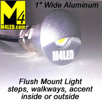 "WK-SS1AP-SILVER 1"" Indoor / Outdoor Flush Accent Light in Silver"