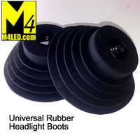 Optional Universal Rubber Headlight Boots x2
