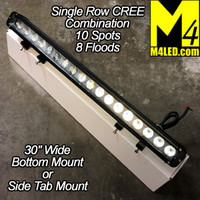 180w Single Row Light Bar Combo Pattern