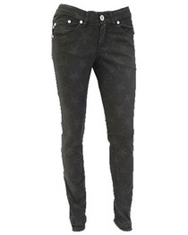 Black on Black Star Low Rise Skinny Jeans