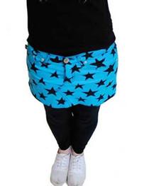 Blue Star Denim Mini Skirt