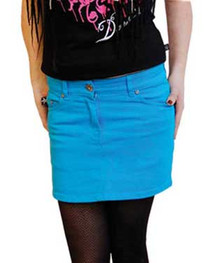 Bright Blue Denim Mini Skirt