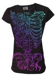 Butterfly Ribs Womens T Shirt
