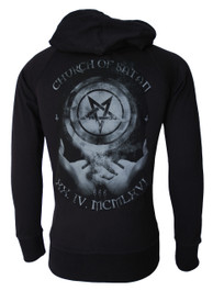 Church Of Satan Star Cotton Zip Hood
