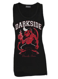 Devils Own Black Cotton Vest