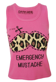Emergency Moustache Pink Vest