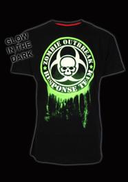 Glow In The Dark Green Zombie Response T-Shirt