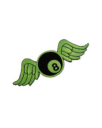 Green Bowling Ball Wings Patch