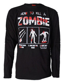 How To Kill A Zombie Mens Panel Top