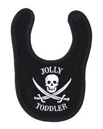 Jolly Toddler Black Bib