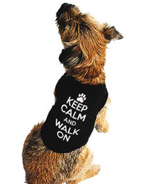 Keep Calm And Walk On Dog T Shirt