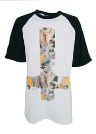 Kitty Cross Womens Raglan T Shirt