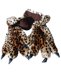 Leopard Paw Scarf and Glove Set