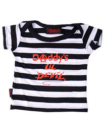 Lil Devil Stripey Baby T-Shirt