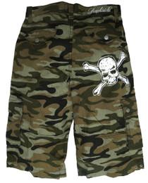 Mens Skull Camo Shorts