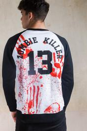Mens Zombie Killer 13 Baseball Sweatshirt