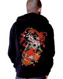 Mexican Girl Black Premium Zip Hood
