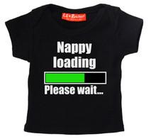 Nappy Loading Please Wait Baby T Shirt
