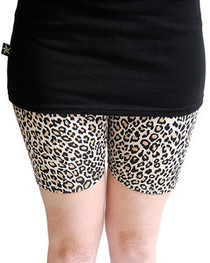 Natural Leopard Short Leggings