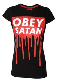 Obey Satan Womens T Shirt