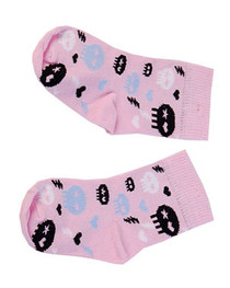 Pink Blue And Black Skull Kids And Baby Socks