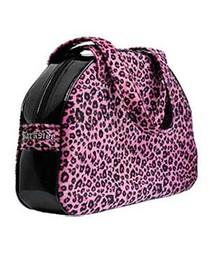 Pink Leopard Fur Handbag