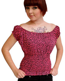 Pink Leopard Gypsy Top