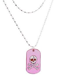 Pink Skull Dogtag