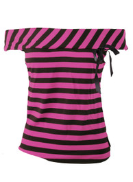 Pink Stripey 1950s Top