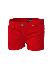 Red Denim Hot Pants