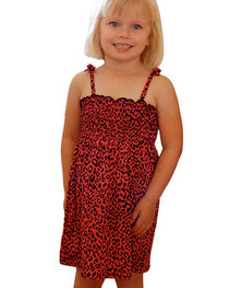 Red Leopard Girls Dress
