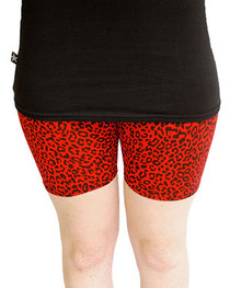 Red Leopard Short Leggings