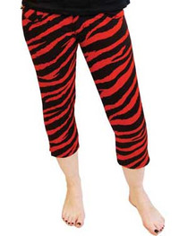 Red Zebra Capris Jeans Womens