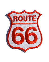 Route 66 Red & White Patch