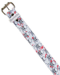 Skull Splat Printed Belt