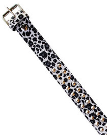 Snow Leopard Fur Conical Stud Belt  38mm