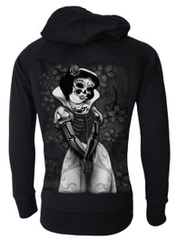 Snow White Skeleton Cotton Zip Hood