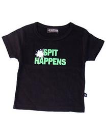 Spit Happens Black Baby/Kids T-Shirt