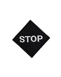 Square Black Stop Patch