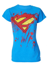 Super Zombie Womens Light Blue T Shirt