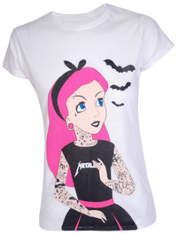 Tattoo Princess Womens T Shirt